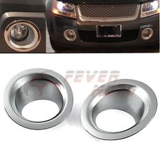 Triple Chrome Front Fog Light Cover Trim ABS For Suzuki GRAND VITARA 2006-11 FM