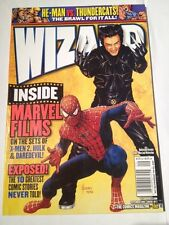Wizard # 132 ,spiderman, Wolverine
