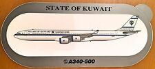 STATE OF KUWAIT, Airbus A340-500, Sticker, Original, High Quality Print,RARE !!!