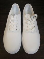 Ladies Keds White Leather Lace Up Size 6 Thick Sole Clean walk work play