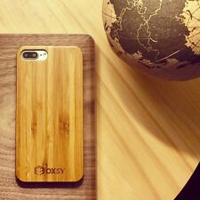 OXSY Apple iPhone 7+ Cover (7 Plus) Bamboo Real Wood Case