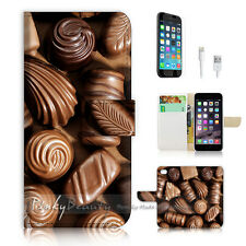 "iPhone 6 (4.7"") Print Flip Wallet Case Cover! Chocolate P0527"
