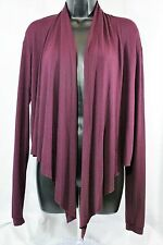 Anthropologie Silence + Noise Sz S Maroon Layering Cardigan Sweater Cover Up