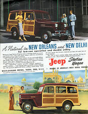 1949 Jeep Car Ad -Jeep Station Wagon---Willy's-Overland  --v224