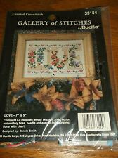 """""""LOVE"""" COUNTED CROSS STITCH KIT BY BUCILLA"""