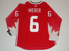 SHEA WEBER SIGNED 2016 TEAM CANADA WORLD CUP OF HOCKEY JERSEY JSA COA CANADIENS