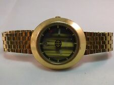 ZODIAC ASTROGRAPHIC MYSTERY DIAL FLOATING HANDS TIGERS EYE FACE WATCH