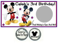 10 Mickey Mouse Clubhouse Birthday Party Scratch Off Game Cards Tickets