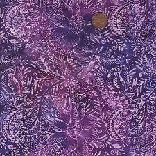 Tonga B1121 Purple Batik 100% Cotton Fat Quarter