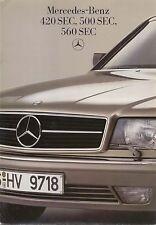 Mercedes Benz 420 500 560 SEC Coupes 1986-1987 original UK Sales Brochure