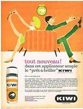 PUBLICITE ADVERSTISING  1963   KIWI    cirage applicateur