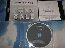 JOHN CALE - OUTTA THE BAG  UK PROMO MAXI CD SINGLE