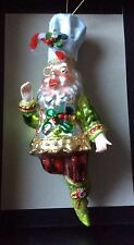 Mark Roberts Chef Baker Fairy Glass Christmas Ornament
