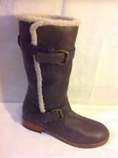 Esprit Brown Mid Calf Leather Boots Size 36