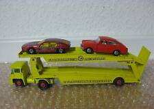 Matchbox Autotransport Car Auction Collection mit zwei Autos /P030