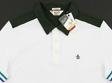 Men's PENGUIN White Green Polo Shirt XXL 2XL NWT NEW Classic Fit Nice!