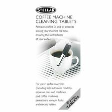 STELLAR Coffee Machine/Flask/Pot Cleaning Tablets. Espresso Maker. Pack of 10