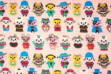 ~ [FQ] Cute Multi Costume Salmon Pink Puppy Dog 100% Cotton Fabric ~ Free S&H