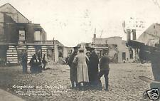 13261/  Foto AK, zerstörtes Tapiau Opr., 1914