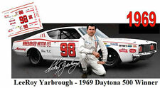 CD_DC-1969  #98 Lee Roy Yarbrough  1969 Mercury Cyclone  1:64 decals ~OVERSTOCK~