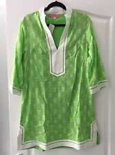 NWT $125 Preppy Girl Palm Beach Sloane Green Pineapple Tunic Dress X-SMALL XS