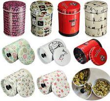 Boite de rangement double cylindre de stockage boîtes à thé alimentaire