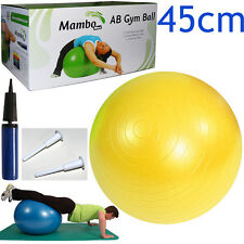 Msd PALLA PSICOMOTORIA ANTISCOPPIO 45cm +POMPA + 2 TAPPI pilates GYM SWISSBALL