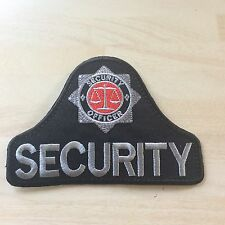 Security Officer Badge (iron on) Bell shaped