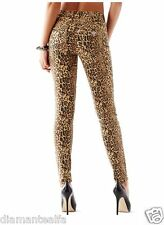 GUESS Women's 1981 High-Rise Skinny Jeans with Drew Leopard Print sz 25