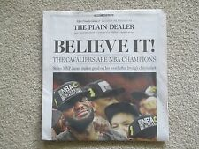 6/20/16 CLEVELAND CAVALIERS WIN NBA CHAMPIONSHIP PLAIN DEALER FULL NEWSPAPER NEW