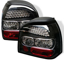 Volkswagen 93-98 Golf MK3 Black LED Rear Tail Brake Lights Lamp GTI TDI GL CL