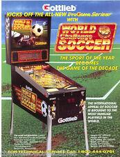 WORLD CHALLENGE SOCCER GOTTLIEB 1994 NOS PINBALL MACHINE SALES FLYER BROCHURE