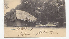 I538-ZANZIBAR-NATIVE HUT POSTCARD