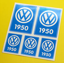 VW 1950 VOLKSWAGEN Year Date stickers INSIDE GLASS BEETLE SPLIT SCREEN CAMPER