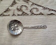 "S. Kirk & Son~ Repousse Sterling Bon Bon Fruit Berry Spoon 5 1/8"" No Mono Stieff"