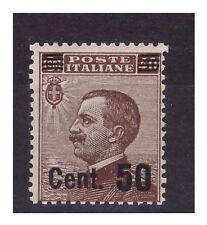 REGNO 1923 -SOPRASTAMPATIi  Cent.  50 SU 40 bruno   NUOVO *