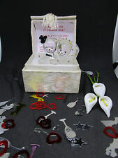 PERSONALISED WEDDING DAY GIFT FOR  BRIDE AND GROOM  GLASS TEDDY'S IN A BOX