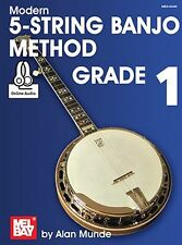 Learn to Play Modern 5-String Banjo Method MUSIC BOOK & ONLINE AUDIO Grade 1