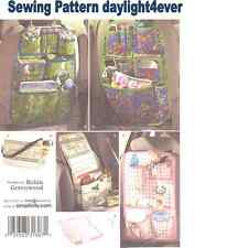 Car Organizers Over the Seat Auto Tote Bag Diaper Bag Sewing Pattern 2916 New  q