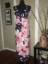 Oscar De La Renta Floral Maxi Dress Sz Small
