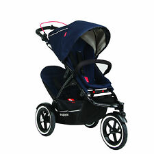 Phil & Teds Navigator 2 Double Stroller, Midnight Blue - NEW - Open Box