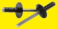 Allstar 3/16 Steel Rivets Multi Grip Rivet Large Head Black Aluminium Body 250pk