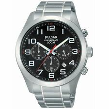 Pulsar Chronograph Stainless Steel Mens Watch PT3661X1