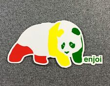 Enjoi RASTA Panda Skateboard Sticker 4.5in si