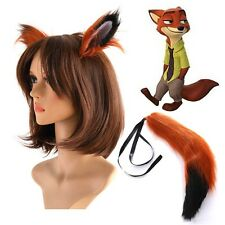 High-quality Zootopia Fox Nick Wilde Ears Tail Cosplay Accessories 65cm