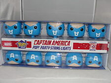 Funko Pop Home Marvel Captain America Party String Lights-New