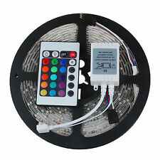 High Quality 5M 300LEDs SMD 3528 RGB Flexible LED Strip Light DC 12V +24key IR