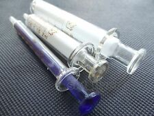3pcs Glass syringes,  Glass Injector , 1ml/2ml/5ml Lab Supplies