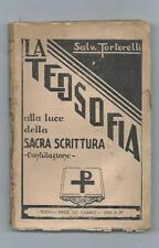 Libro La Teosofia Confutazione Luce della Sacra Scrittura Salvatore Tortorelli