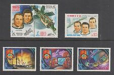 RUSSIA #4918-4923 MNH SPACE: Cosmos 37 Complex, Soyuz, Mongolia-USSR Cooperative
